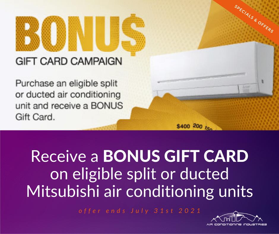 mitsubishi bonus gift card promotion